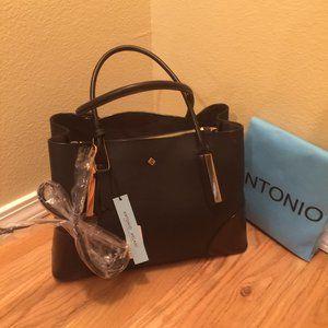Antonio Melani Black Bag w/Crossbody Strap  NWT